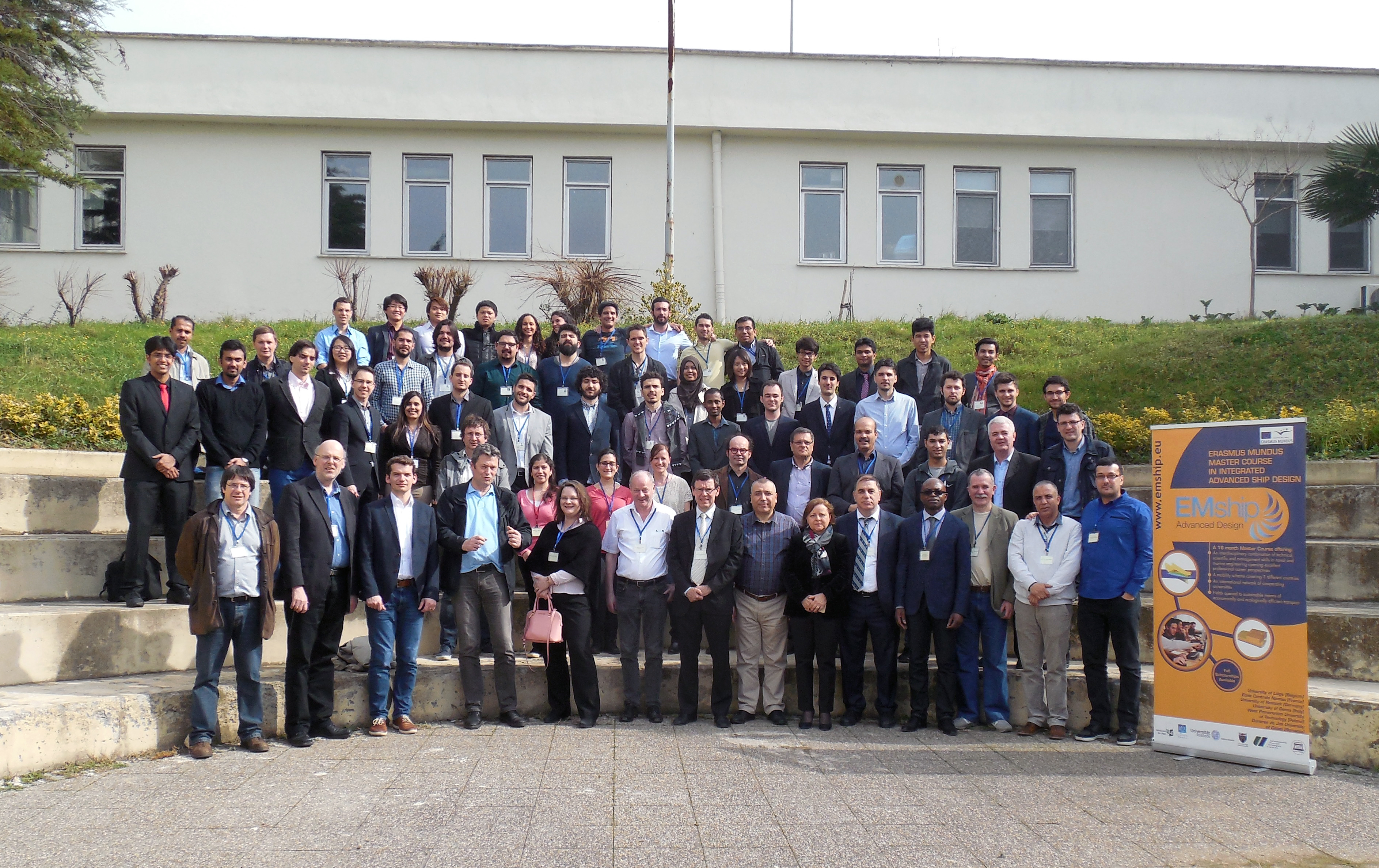 Mr Dragos Totolici, Principal Engineer of Icepronav Engineering (first right) in a group picture at the end of the EMSHIP 2016 SAB meeting.