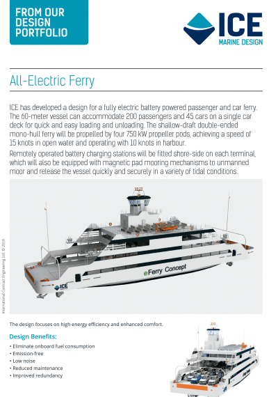 ICE All Electric Ferry Concept Design 2019