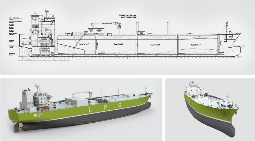 Gas Carriers - ICE - Ship Design & Engineering Marine Industry