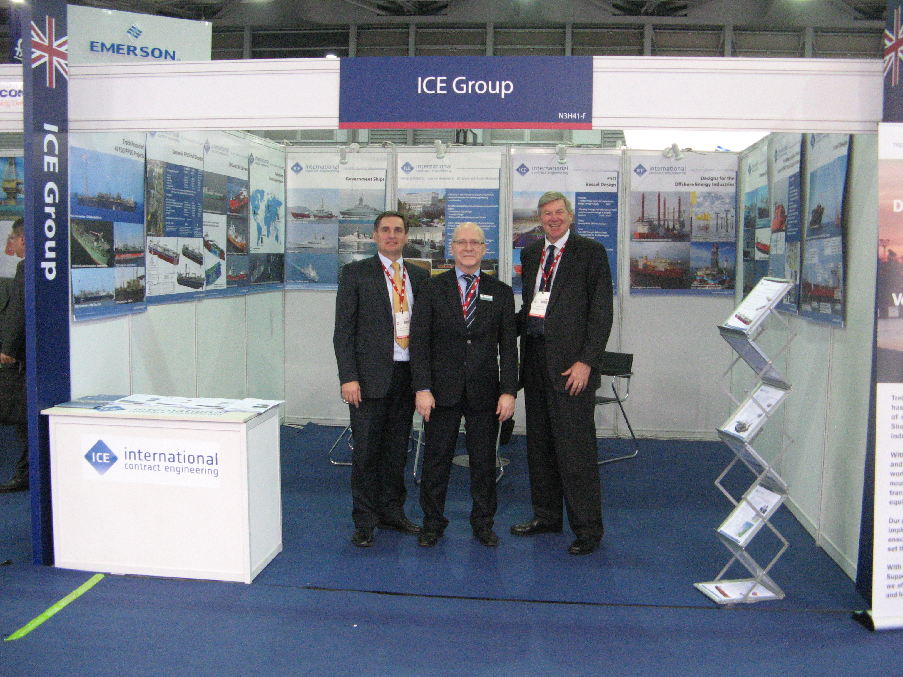 Picture from ICE's stand at the exhibition.